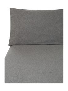 Grey flannel housewive pillowcase pair
