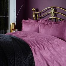 Royale jacquard plum oxford pillowcase pair