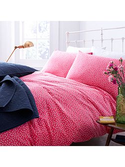 Red polka duvet cover super king