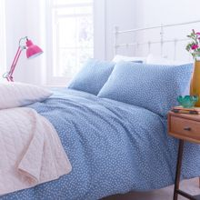 Blue polka housewife pillowcase pair