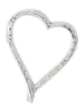 Linea Beaten Metal Heart Plate Tablelinen
