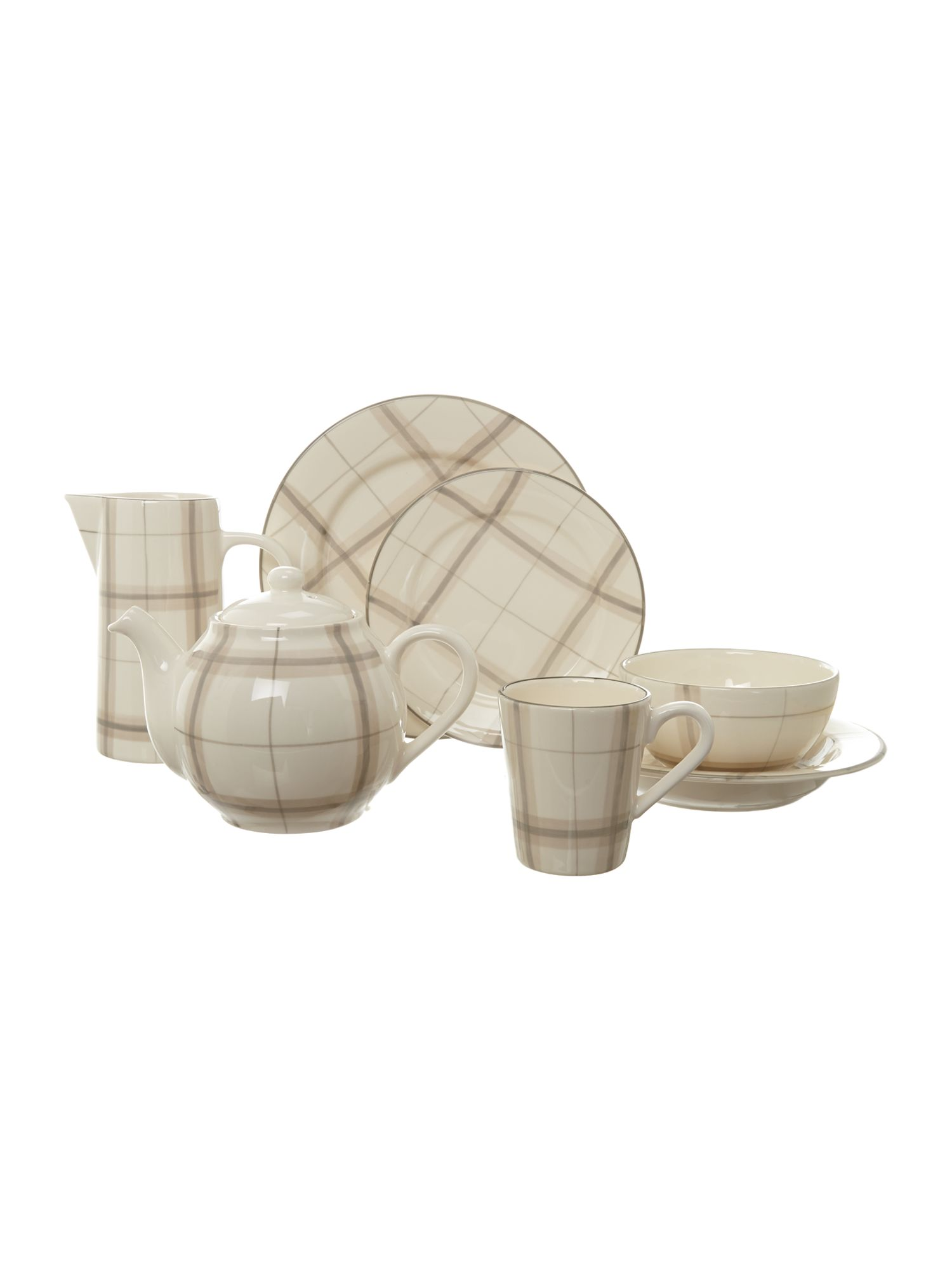 Forest Check Natural Dinnerware Range