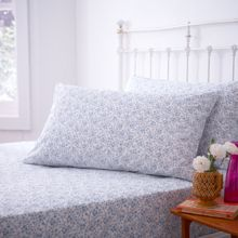 200 thread count blue print housewife pillowcases