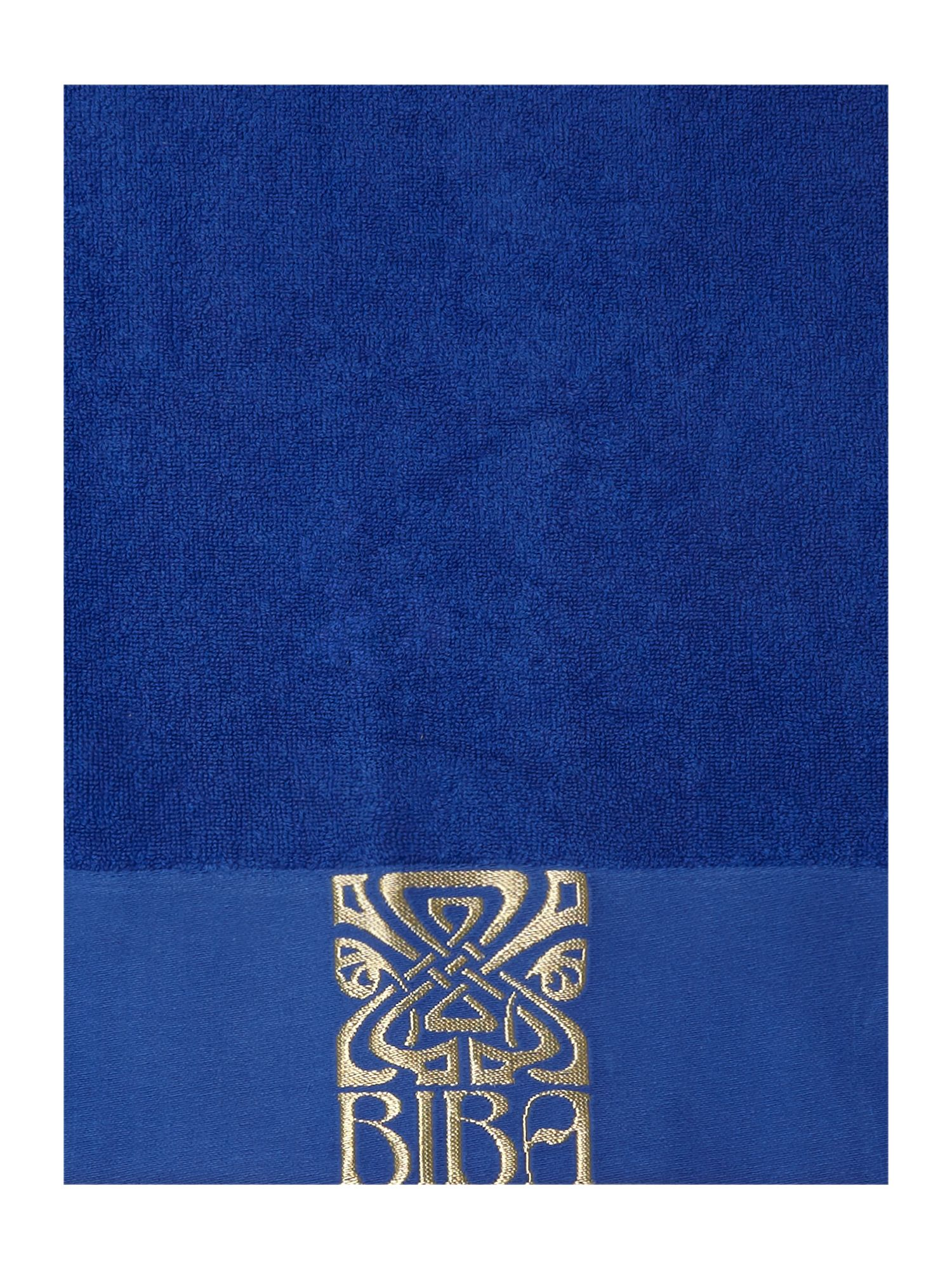 Biba Logo Towel Set Royal Blue