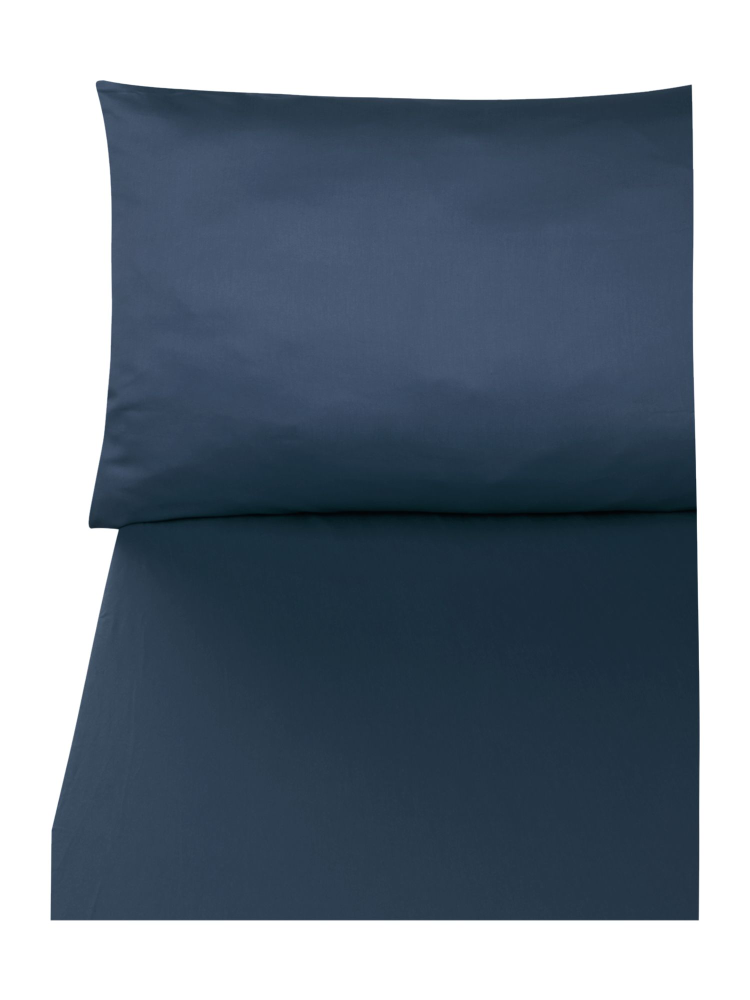 300 thread count navy oxford pillowcase pair