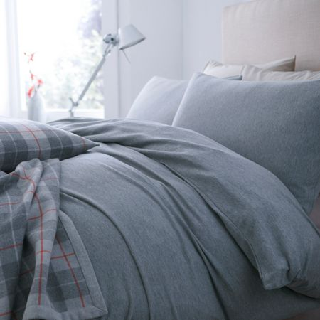 Linea Grey jersey fitted sheet set king