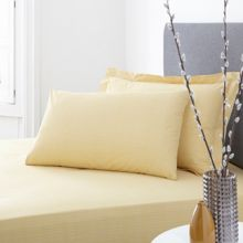 Living by Christiane Lemieux 200 percale citrine flat sheet double