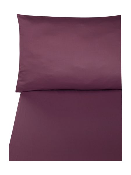 Biba 300 bordeaux flat sheet super king
