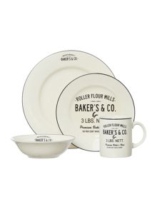 Thrift Cream Porcelain Dinnerware Range