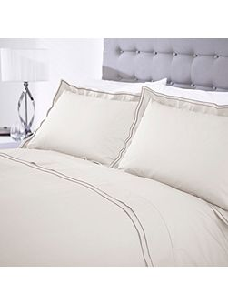 Casa Couture Greenwich pale grey duvet cover double