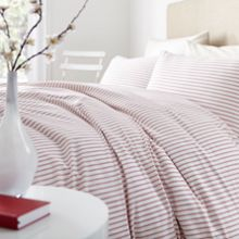 Red Ticking stripe bedding range