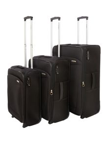 Antelao Black 2w Soft Luggage Set