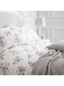 Grey rose single duvet set