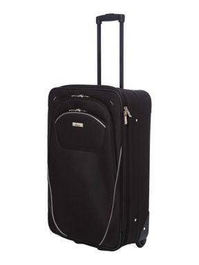 Linea Brixham Black  & Grey Soft Luggage Set
