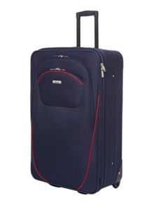 Linea Brixham Navy & Red Soft Luggage Set