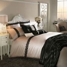 Kylie Minogue Black lace super king duvet cover