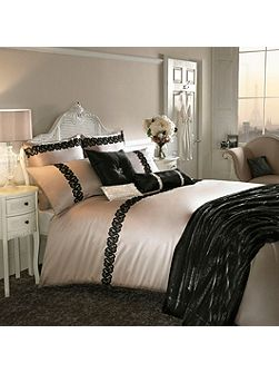 Black lace housewife pillowcase