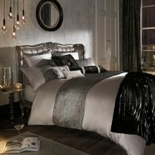 Kylie Minogue Alaina truffle double duvet cover