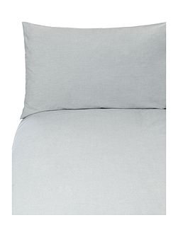 Linea Chambray percale duvet cover set single blue
