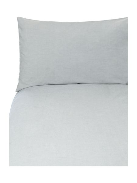 Linea Chambray percale duvet set super king blue