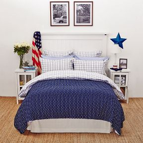 Lexington Country check bed linen range in blue