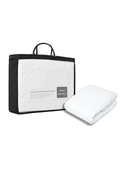 luxury microfibre mattress protector single