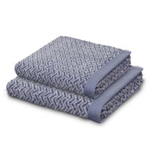 Herringbone towel range in blue