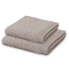 Move Herringbone towel range beige