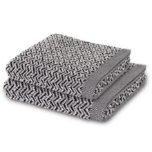 Herringbone towel range in black