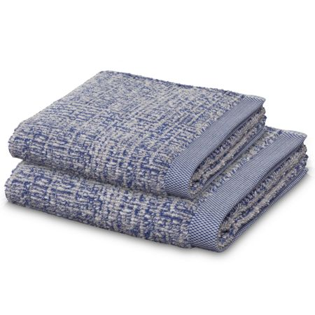 Move Tweed hand towel in nature and blue