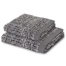 Tweed towel range in Black