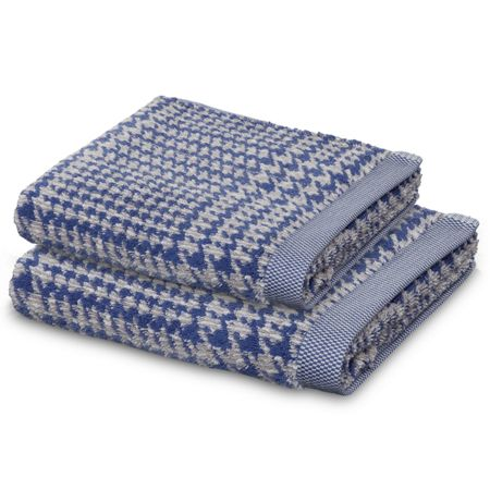Move Prince of Wales hand towel nature and china blue