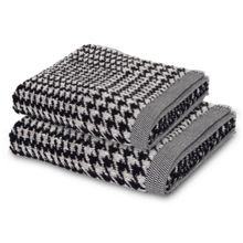 Prince of Wales towel range in Black