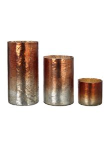 Metallic Weathered Vase & Votive range