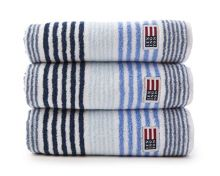 Lexington Original striped towel range in blue