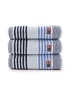 Lexington Original Striped Bath Towel in Blue