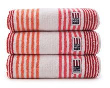 Lexington original striped towels in red