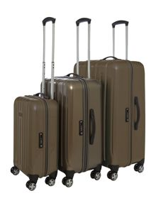 Movelite Gold 4 wheel hard luggage set