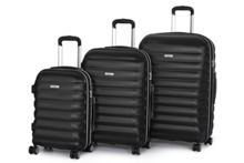 Panel Black 4 wheel hard luggage set