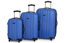 Linea Odel Blue 4 wheel hard luggage set