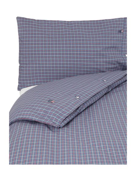 Lexington Authentic Poplin Check bl/re/gr King Duvet Set