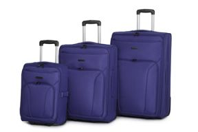 Linea Mila Blue 2 wheel soft luggage set