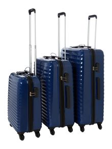 Axial Blue 4 Wheel Hard Luggage Set