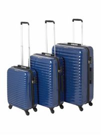 Delsey Axial Blue 4 Wheel Hard Luggage Set