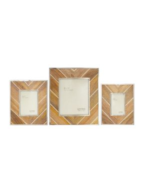 Living by Christiane Lemieux Wood with Metal Chevron frames