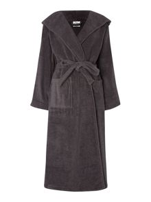 Zero Twist Terry Robe in Pewter