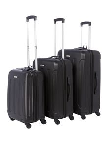 Linea Dakota black 4 wheel luggage range
