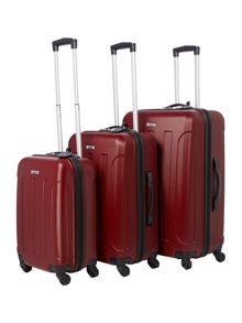 Dakota burgundy luggage range