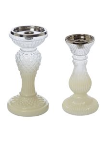 Ombre glass candle stick range