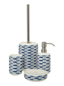 Linea Fish ceramic bathroom accessory range